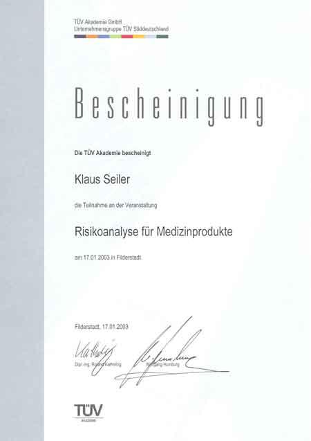 quality manager risikoanalyse medizinprodukte - Konformitatserklarung Beispiel