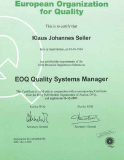 EOQ Quality Systems Manager